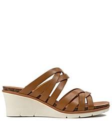Bonnita Strappy Slip-on Wedge Sandals