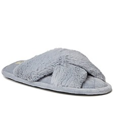 Women's Jessica Furry Crossband Slide Slipper