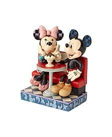 Mickey Minnie At Soda Shop Figurine