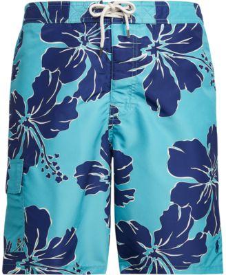 폴로 랄프로렌 맨 8.5인치 보드 수영복 Polo Ralph Lauren Mens 8.5 Inch Kailua Board Shorts,Shadow Hibiscus