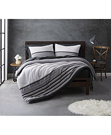 Knit Stripe Jersey Full/Queen Duvet Set