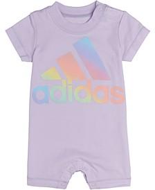 Baby Girls Rainbow Logo Cotton Romper