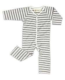 Baby Boys and Girls Bamboo V-Neck Long Sleeve Coverall