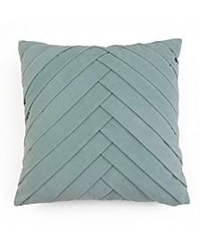 20X20 James Pleated Velvet Pillow in Jadeite