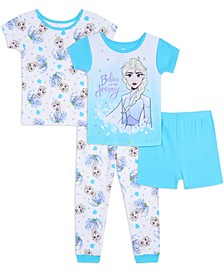 2 Elsa Toddler Girls 4-pc Pajama Set