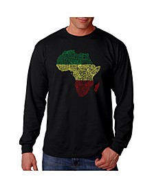 Men's Word Art - Countries in Africa Long Sleeve T-Shirt