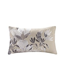 Odessa Embroidered Oblong Decorative Pillow