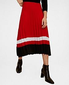 Stripes Pleated Skirt