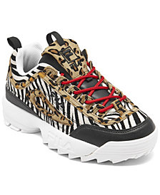Fila Women's Disruptor II Animal Casual Athletic Sneakers from Finish Line