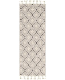 """Restoration REO-2303 Taupe 2'7"""" x 7'3"""" Runner Area Rug"""