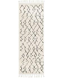 "Berber Shag BBE-2301 Charcoal 2'7"" x 7'3"" Runner Area Rug"