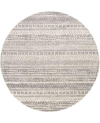 "Sunderland SUN-2304 Gray 7'10"" x 7'10"" Round Area Rug"