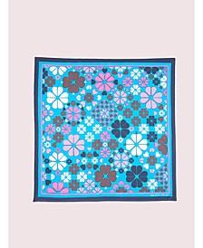 Spade Clover Patchwork Silk Square Scarf