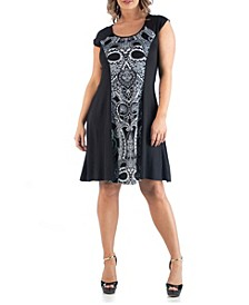 Women's Plus Size Paisley A Line Dress