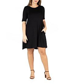 Women's Plus Size Pocket T-shirt Dress