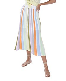 Women's Panelled Midi Skirt