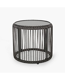 Pabrico Outdoor Side Table with Glass Top