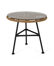 Orlando Outdoor Side Table with Glass Top