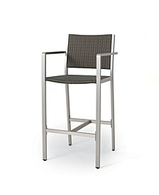 Cape Coral Outdoor Barstools, Set of 2