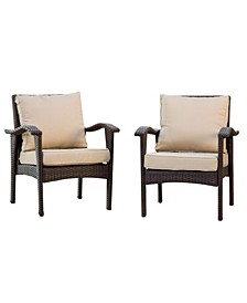 Bradley Outdoor Armchair with Cushions, Set of 2