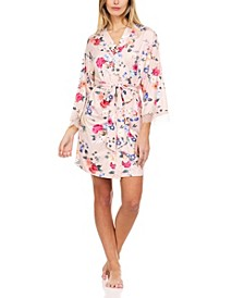 Fiona Butter Knit Floral Wrap Robe