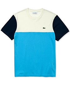 Men's Colorblock Regular Fit Crew Neck Cotton Jersey T-Shirt