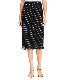 Alex Dot-Print Skirt
