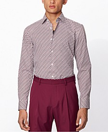 BOSS Men's Jango Medium Purple Shirt