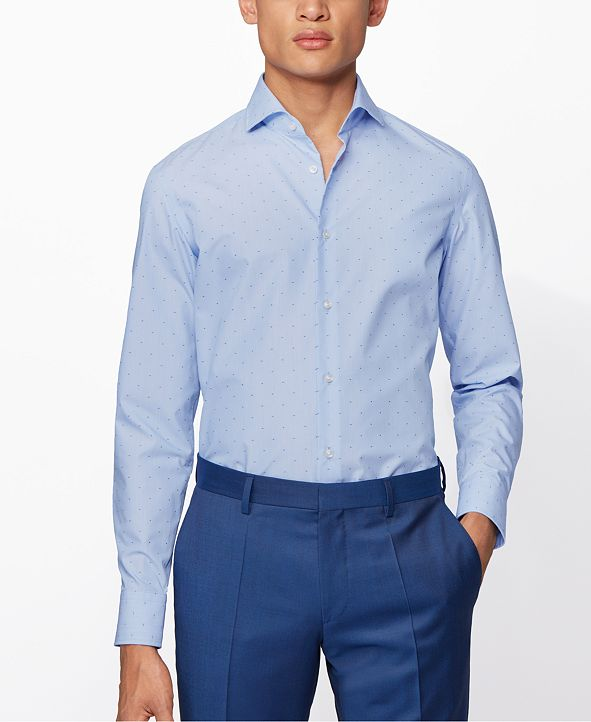 Hugo Boss BOSS Men's Jason Bright Blue Shirt