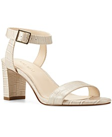 Pixel City Block-Heel Sandals
