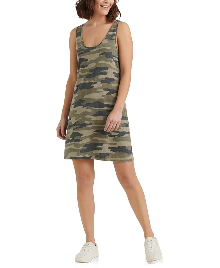 Lucky Brand - Camouflage-Print Mini Dress