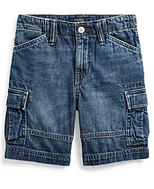 Toddler Boys Cotton Denim Cargo Shorts