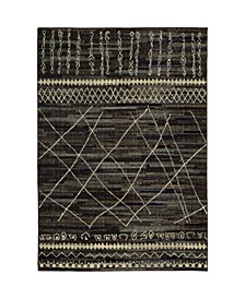 "Gypsy GYP04 Black 4' x 5'9"" Area Rug"