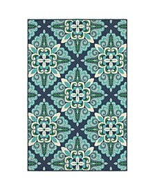 "Apex APE05 Blue 8'6"" x 13' Area Rug"