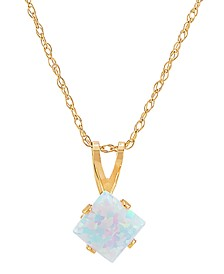 "Lab-Created Opal 18"" Pendant Necklace (1 ct. t.w.) in 14k Gold"