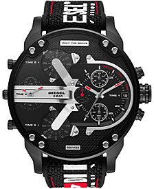 Men's Chronograph Mr. Daddy 2.0 Black Nylon Strap Watch 57mm