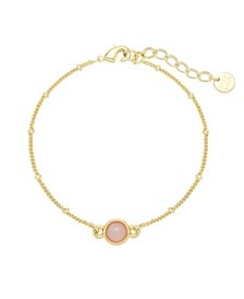 Nola Gemstone Bracelet - Rose Quartz