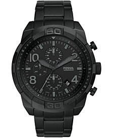 Men's Chronograph Bronson Black Stainless Steel Bracelet Watch 50mm