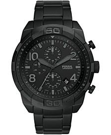 Men's Chronograph Bronson Black Stainless Steel Bracelet Watch 50mm