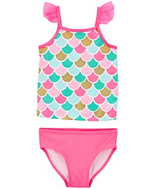 Toddler Girls 2-Pc. Mermaid Tankini