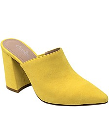 Valiant Block-Heel Mules