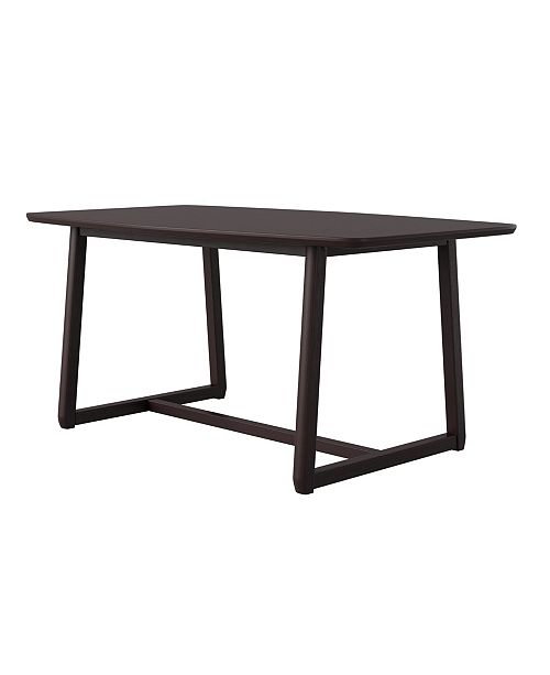 Handy Living Millie Mid Century Modern Rectangular Wood Dining Table Reviews Furniture Macy S