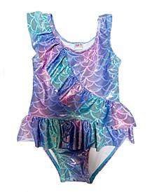 Toddler Girls 1-Pc. Mermaid Ruffle Swimsuit