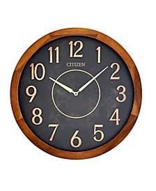 Indoor and Outdoor Wooden Wall Clock