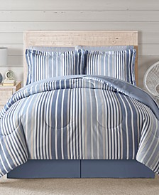Fairfield Square Coastal Hampton Blue 8Pc Comforter Set