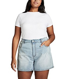 Curve High Waist Denim Shorts