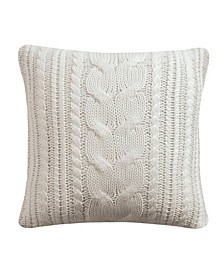 """Camden 18"""" x 18"""" Cable Knit Decorative Pillow"""