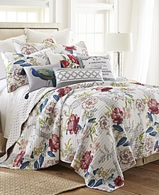 Montecito Floral Reversible Full/Queen Quilt Set