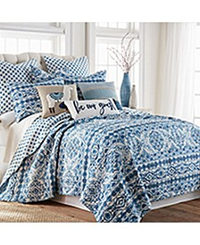 Lillian Reversible Full/Queen Quilt Set