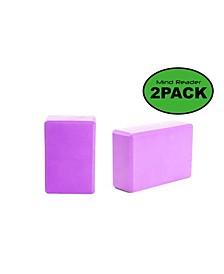 Non-Slip Yoga Foam Block, Set of 2
